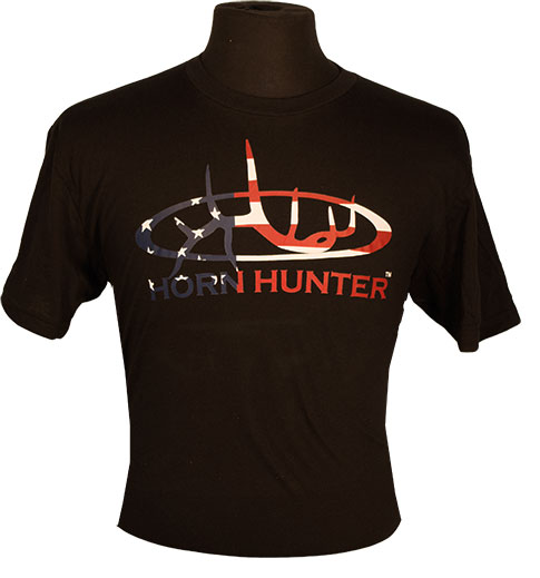Men's Patriot Shirt Black with RED, WHITE, and BLUE Logo | Horn ...