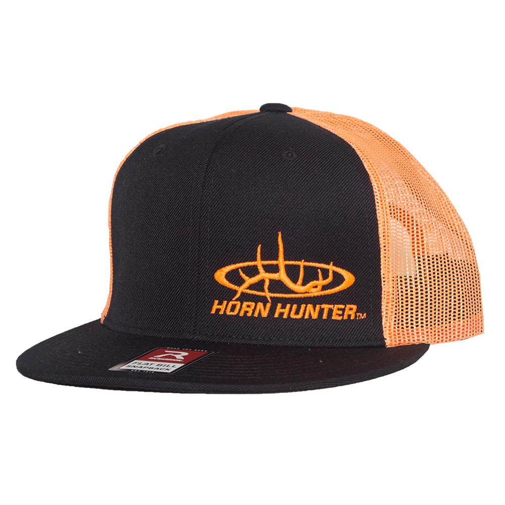 2e38c3d16514b3 Horn Hunter Flat Bill Hat Black/Orange - Horn Hunter Packs